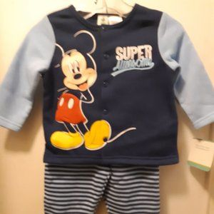 2pc boys Disney Mickey Mouse fleece set